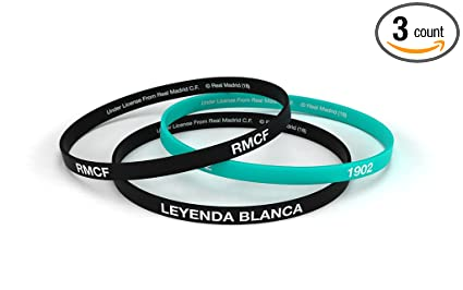 Amazon.com: Real Madrid Club de fútbol pulsera negro clásico ...