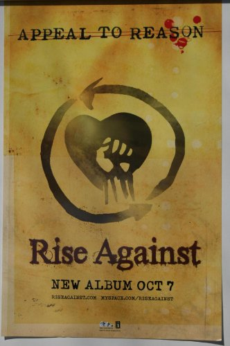 (RISE AGAINST Appeal To Reason 2008 POSTER 17x11)