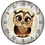 "Yumeart 5D DIY Diamond Painting Cross Stitch Owl Clock Crystal Square Diamond Sets 30x30cm(12x12"")"