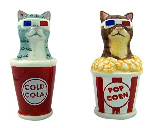 - Pacific Giftware Movie Theater 3D Glasses Cats Salt and Pepper Shaker Set, 4 Inch