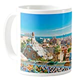 AquaSakura - Parc Guell Barcelona Spain - 11oz Ceramic Coffee Mug Tea Cup