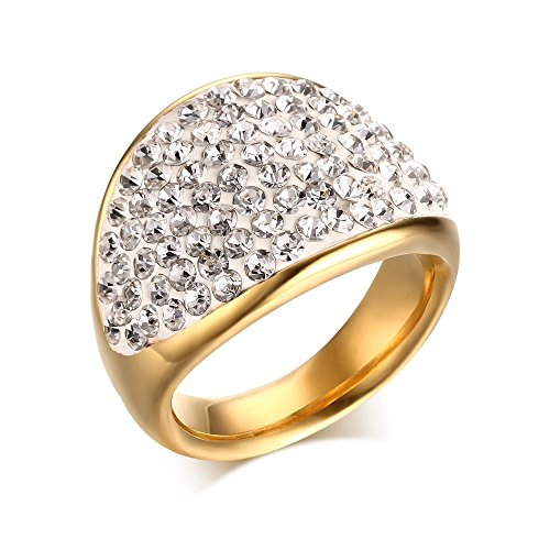 Stainless Engagement Wedding Rhinestone Crystal