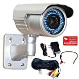 Cheap VideoSecu WDR Zoom Infrared OSD CCTV Outdoor Security Camera 1/3″ Pixim DPS Sensor 690TVL Day Night IR Cut Filter 48 IR Infrared Leds 4-9mm Vari-focal Lens with Power Supply, Microphone, Cable WG0