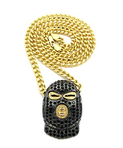 Iced Out Goon Ski Mask Man Pendant with 5mm 24