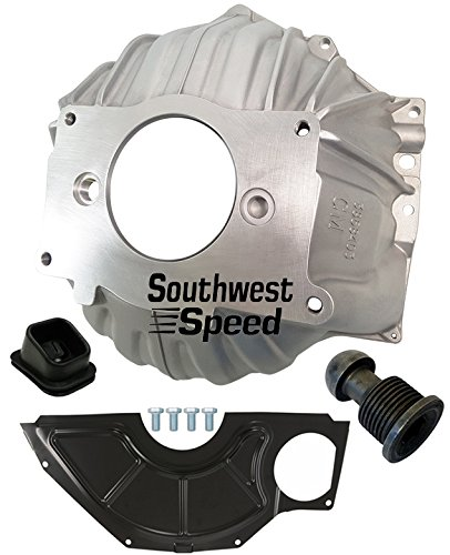 "NEW SWS CHEVY 403 ALUMINUM BELLHOUSING, FLYWHEEL INSPECTION COVER, CLUTCH FORK BOOT & CLUTCH PIVOT BALL, STAMPED WITH #GM 3858403 REPLACEMENT FOR SBC & BBC FOR 10.5"" MANUAL CLUTCH APPLICATIONS"
