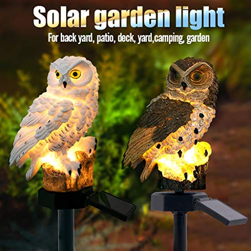 Euone Clearance Sales, LED Garden Lights Solar Night Lights Owl Shape Solar-Powered Lawn Lamp (brown)
