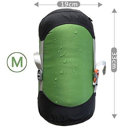 WIND HARD Compression Stuff Sack Waterproof Sleeping Bag Compression Stuff Sack Pack Storage Bags 5 Size (4.5L-14L) by WINDHARD