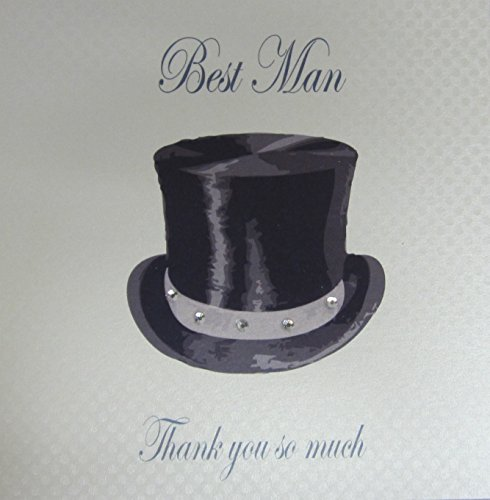 WHITE COTTON CARDS Best Man Thank You So Much Wedding Handmade Card, White