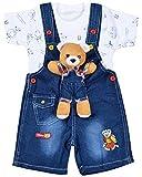 Kuchipoo Unisex Kids Dungaree Baby Dungaree Set (KUC-DUNR-102--12 -18 Months, Blue, 12 -18 Months)