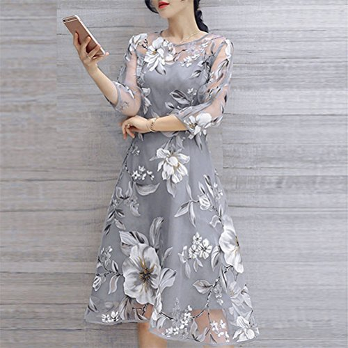 Womens Dresses,Womens Dresses Summer,Moonuy,Ladies Girl Organza Floral Print Wedding Party Ball Prom Gown Cocktail Dress,Womens Dress Size 8,Womens Dress ...