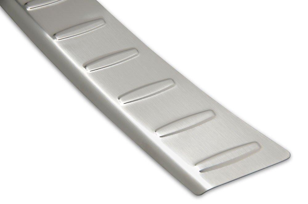 Sto/Ã/ŸstangenschutzMit Abkantung Silber 100/% Edelstahl Einteilige 1 TLG Avisa PKWelt Ladekantenschutz