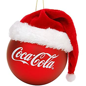 fe0033068fe6a Amazon.com  Kurt Adler 4-1 2-Inch Glass Coca-Cola Can with Santa Hat ...