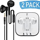 AURAL 2-Pack In-Ear Premium Earphones/Earbuds/Headphones with Stereo Mic&Remote Control Compatible for iPhone iPad
