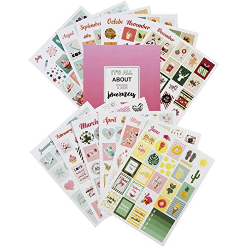- Lamare Holiday Seasonal Planner Stickers Set - Seasonal Monthly Stickers Pack 12 Sheets