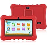 "Ainol Q88 Kids Android 7.1 OS Tablet 7"" Display 1G RAM 8 GB ROM Light Weight Portable Kid-Proof Shock-Proof Silicone Case Kickstand Available with iWawa for Kids Education Entertainment (red)"