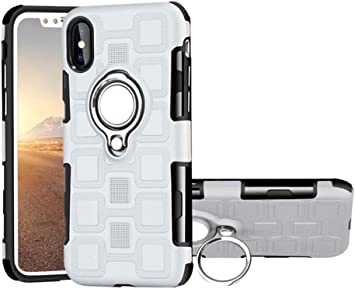 New Cube Red Dual Layer Magnetic Mount with Credit Card Holder Case for Apple iPhone 11 Pro Max