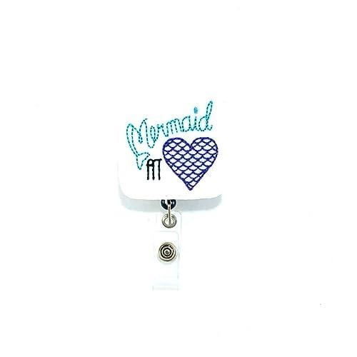 Amazon com: Mermaid at Heart Badge Reel: Handmade