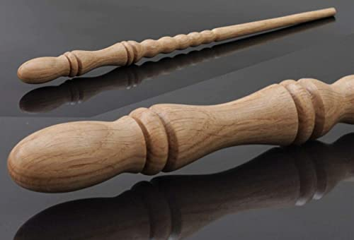 Handmade wooden Oak magic wand