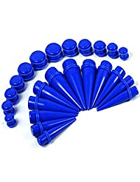 BodyJ4You 24PC Big Gauges Kit Ear Stretching 00G-20mm Tapers Plugs Mix Colors Acrylic Piercing Set