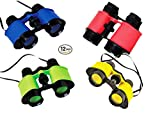 a game ranger on safari - Play Kreative Toy Binocualrs - Pack of 12 Assorted Colorful Novelty Binoculars with Strings for Kids, Sightseeing, Birdwatching, Wildlife, Outdoors, Scenery, Indoors, Pretend, Play, Props, And Gifts