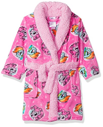 (My Little Pony Girls' Toddler Luxe Plush Robe, Pony Pink, 2T )