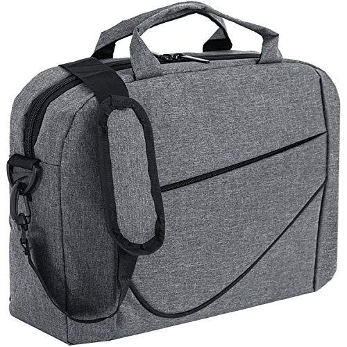 DAHSHA 15.6 inch Laptop Messenger Sling Office Shoulder Travel Organizer Briefcase Water Repellent Fabric Bag Business…