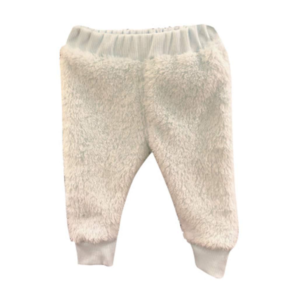 Soly Teche Kids Girls Double-Faced Fleece Pants Winter Warm Casual Pants