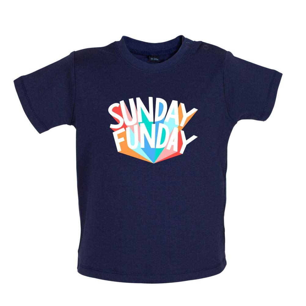 3-24 Months 8 Colours Baby T-Shirt Dressdown Sunday Funday
