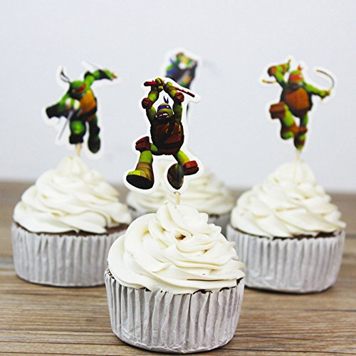 Teenage Mutant Ninja Turtles Themed Cupcake Toppers Party Pack for 24 Cupcakes -