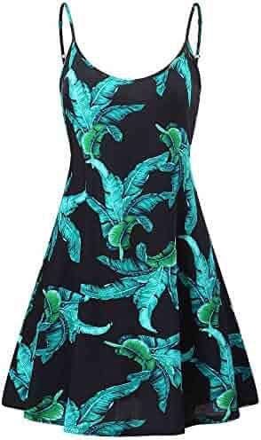 be713b1664c0 MSBASIC Women s Sleeveless Adjustable Strappy Summer Beach Swing Dress