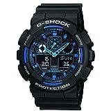 Casio Men's G-Shock GA100-1A2 Black Resin Quartz Watch