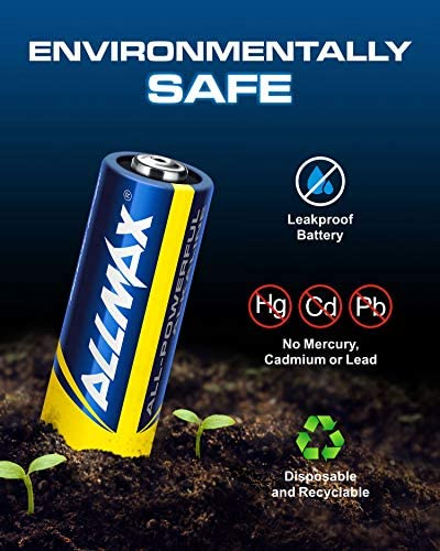 Allmax A23 12V Maximum Power Alkaline Batteries (5 Count) – Ultra Long-Lasting 12 Volt 23A Battery – Leak-Proof, Zero Mercury, Device Compatible – Powered by way of EnergyCircle Technology