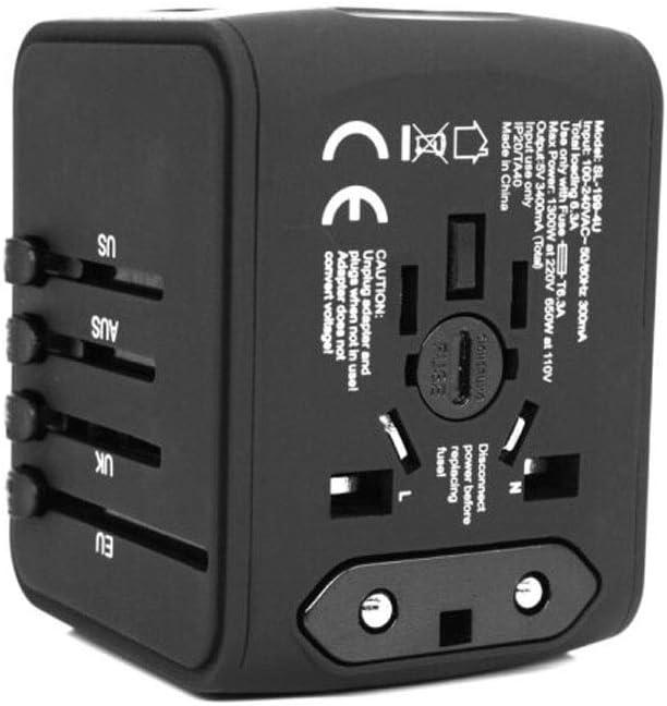 Multi-function Power Socket Easy To Travel Abroad Arts Universal Conversion Socket black Sports, Color : Black QIANZICAIDIAN Travel Converter