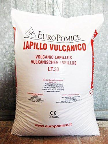 c.ca 33 kg - 33 lt Lapillo vulcanico lava vulcanica 3//5 mm