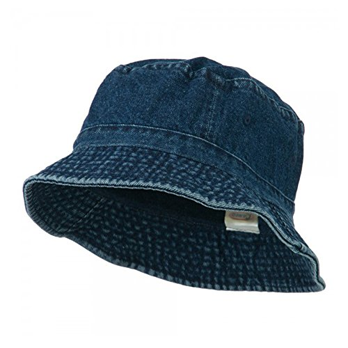 Pigment Dyed Bucket Hat-Denim OSFM
