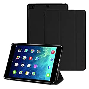 Vena Apple iPad Mini 3 [vCover] PU Leather Smart Cover Slim Hard Shell Case Stand [Sleep/Wake Function] for Apple iPad Mini with Retina Display (2013)/iPad Mini 3 (2014) - Black