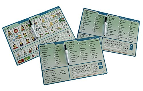EZ Communication Boards: Picture Board, English Word Board and Spanish Word Board Bundle