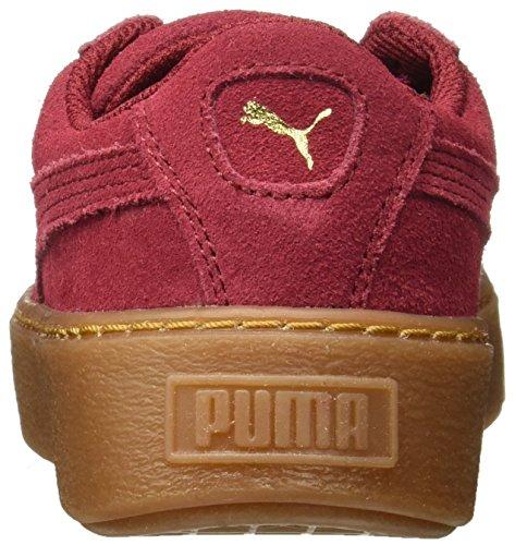Platform Niños Glam Suede Rojo puma Jr Red Unisex Puma tibetan Zapatillas Gold 5wqBYUEn
