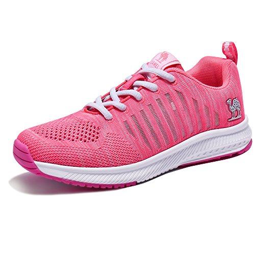 Antichoc Sport Maille Sneakers Course Femmes Marche Rose Pour Lger Athltique Chameau Chaussures Mode De Respirant YvwpxAPq