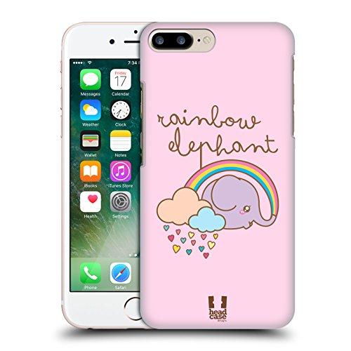 Head Case Designs Arcobaleno Elefanti Kawaii Cover Retro Rigida per Apple iPhone 7 Plus / 8 Plus