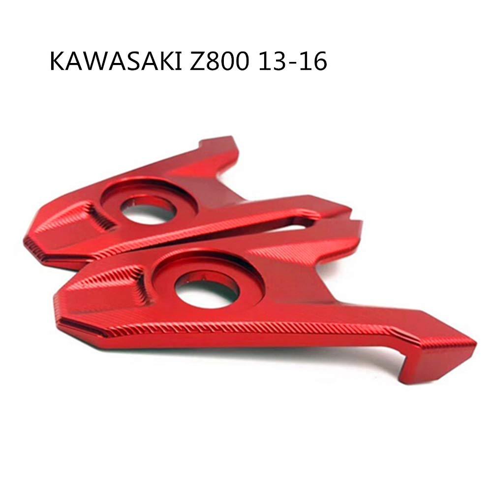 XuBa Accesorios para Motocicleta Eje Trasero Eje Eje Cadena Ajustador Bloques para Kawasaki Z800 2013 2014 2015 2016