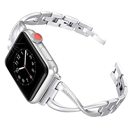 Amazon.com: Telustyle Solid Stainless Steel Smartwatch Band ...