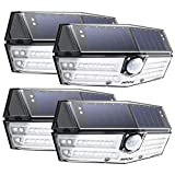 Mpow Premium 40-LED Solar Lights Outdoor 3 modes Motion Sensor Lights with 24.5% High-efficient Solar Panel,IP66 Waterproof,270°Super Wide Angle Super Bright Wall Light for Front Door,Yard,Garage,Fence 4 Pack