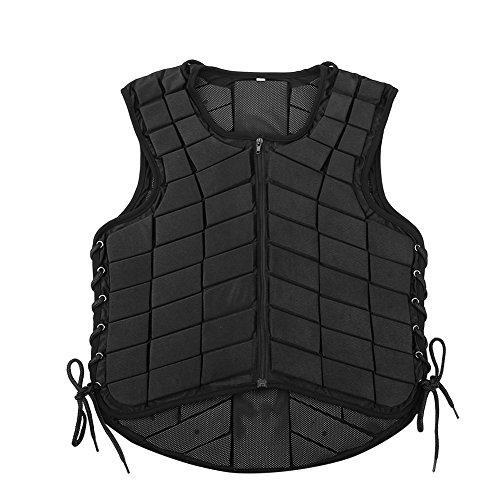 Estink Horse Riding Vest, Zippered Body Safety Guard Waistcoat Protective Gear (XL)