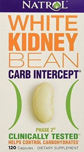 Natrol White Kidney Bean Carb Intercept,  120 Capsules (Kidney White)