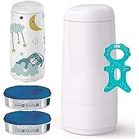 Angel Care® Dress Up Starter-Set: Cubo para pañales + 2recambios para + Dress de Up Funda Elephants
