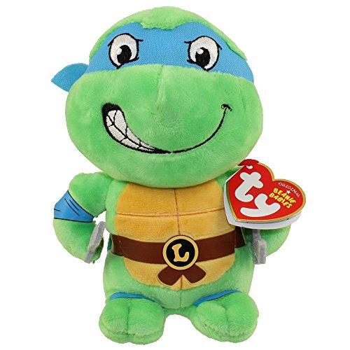 Ninja Turtle Beanie (Ty Teenage Mutant Ninja Turtles Leonardo Mask, Blue, Regular)