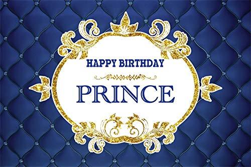 - AOFOTO 5x3ft Little Prince Birthday Party Backdrop Boy Drak Blue Upholstered Tuft ed Bed Backrest Photography Background Customizable Backdrops Video Drape Wallpaper Photo Studio Prop