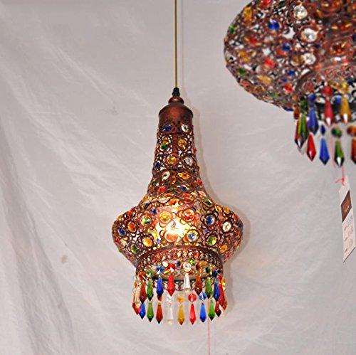 YZL American Retro Southeast Asia Mediterranean Bohemia, Living Room Lamp Bedroom Dining Bronze Color Crystal Chandelier , ()