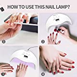 48W LED Nail Lamp, DIOZO Portable Nail Dryer